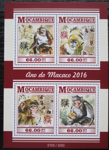 Poštovní známky Mosambik 2015 Èínský nový rok, rok opice Mi# 8269-72 Kat 15€