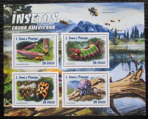 Poštovní známky Svatý Tomáš 2016 Americký hmyz Mi# 6771-74 Kat 12€