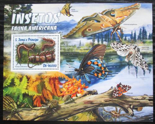 Poštovní známka Svatý Tomáš 2016 Americký hmyz Mi# Block 1204 Kat 10€