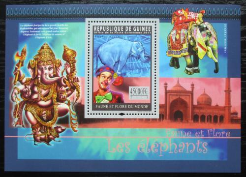 Poštovní známka Guinea 2011 Sloni Mi# Block 1944 Kat 18€