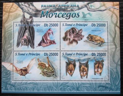 Poštovní známky Svatý Tomáš 2013 Netopýøi Mi# 5120-23 Kat 10€