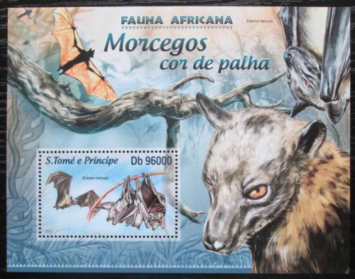 Poštovní známka Svatý Tomáš 2013 Netopýøi Mi# Block 884 Kat 10€