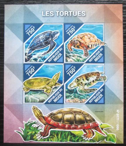 Poštovní známky Niger 2015 Želvy Mi# 3882-85 Kat 12€