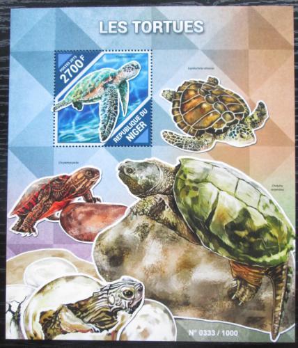 Poštovní známka Niger 2015 Želvy Mi# Block 481 Kat 10€