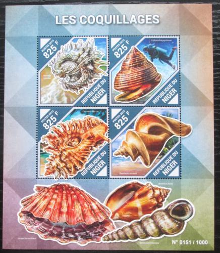 Poštovní známky Niger 2015 Mušle Mi# 3867-70 Kat 13€