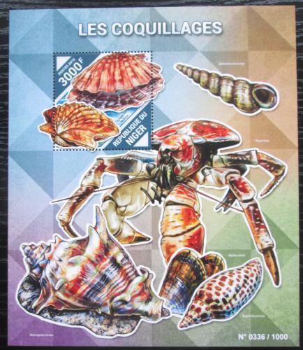Poštovní známka Niger 2015 Mušle Mi# Block 478 Kat 11€
