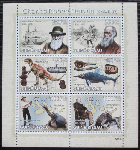 Poštovní známky Guinea-Bissau 2009 Charles Darwin Mi# 4104-09 Kat 14€