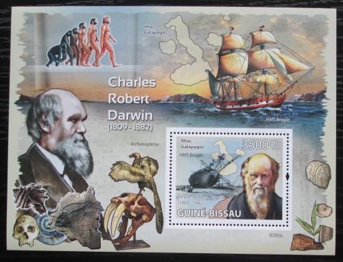 Poštovní známka Guinea-Bissau 2009 Charles Darwin Mi# Block 685 Kat 14€