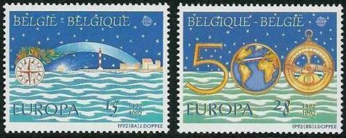 Poštovní známky Belgie 1992 Evropa CEPT, objevení Ameriky Mi# 2506-07 Kat 5€