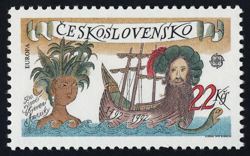 Poštovní známka Èeskoslovensko 1992 Evropa CEPT, objevení Ameriky Mi# 3114 Kat 3€