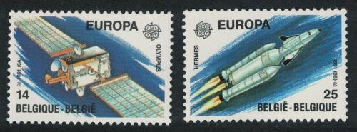 Poštovní známky Belgie 1991 Evropa CEPT, prùzkum vesmíru Mi# 2458-59 Kat 4.50€