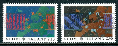 Poštovní známky Finsko 1991 Evropa CEPT, prùzkum vesmíru Mi# 1144-45 Kat 7€