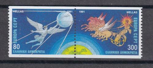 Poštovní známky Øecko 1991 Evropa CEPT, prùzkum vesmíru Mi# 1777-78 C Kat 9€