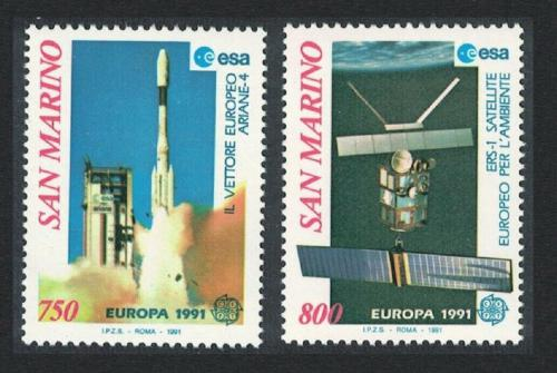 Poštovní známky San Marino 1991 Evropa CEPT, prùzkum vesmíru Mi# 1465-66 Kat 9€