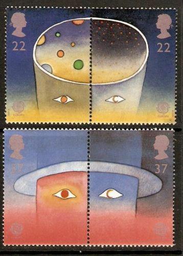 Poštovní známky Velká Británie 1991 Evropa CEPT, prùzkum vesmíru Mi# 1337-40 6€