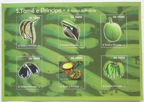 Poštovní známky Svatý Tomáš 2010 Ovoce a zelenina Mi# 4717-22 Kat 10€
