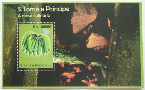 Poštovní známka Svatý Tomáš 2010 Banány Mi# Block 804 Kat 10€