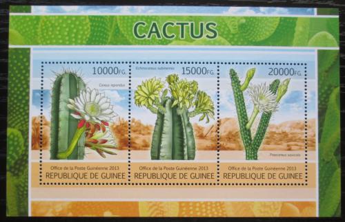 Poštovní známky Guinea 2013 Kaktusy Mi# 9717-19 Bogen Kat 18€
