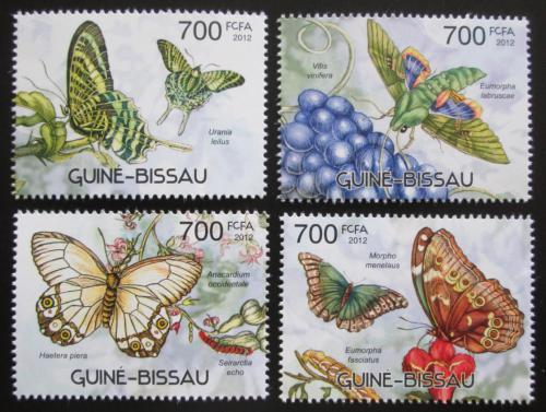 Poštovní známky Guinea-Bissau 2012 Motýli Mi# 5887-90 Kat 11€