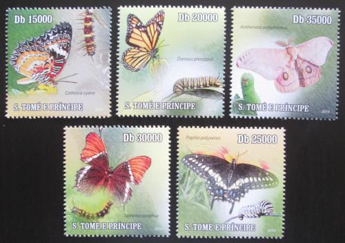 Poštovní známky Svatý Tomáš 2010 Motýli Mi# 4598-4602 Kat 13€