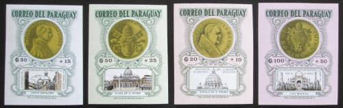 Poštovní známky Paraguay 1964 Papežovy medaile TOP SET Mi# 1388-91 Kat 25€