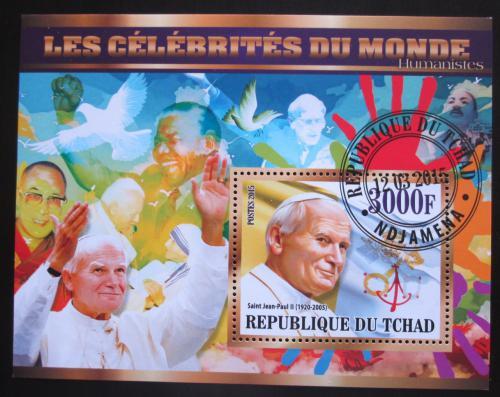Poštovní známka Èad 2015 Papež Jan Pavel II. Mi# N/N