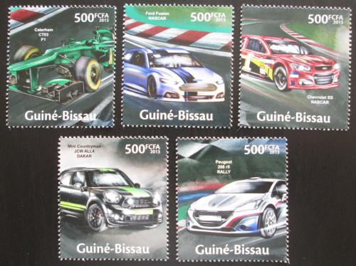 Poštovní známky Guinea-Bissau 2013 Závodní automobily Mi# 6664-68 Kat 10€
