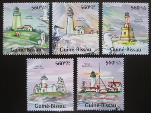 Poštovní známky Guinea-Bissau 2013 Majáky Mi# 6676-80 Kat 11€
