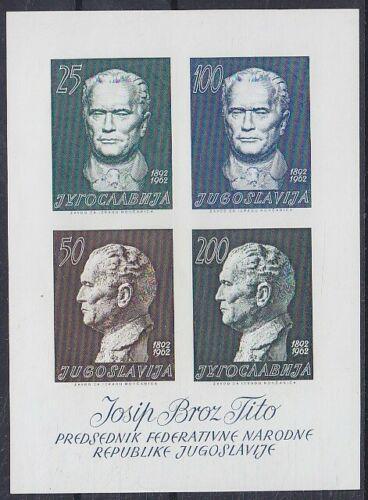Poštovní známky Jugoslávie 1962 Prezident Tito Mi# Block 8 Kat 30€