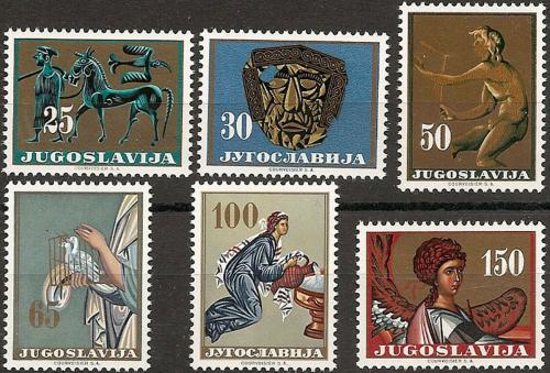Poštovní známky Jugoslávie 1962 Umìní Mi# 1026-31