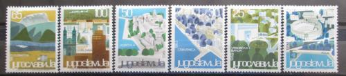 Poštovní známky Jugoslávie 1963 Turistické zajímavosti Mi# 1040-45