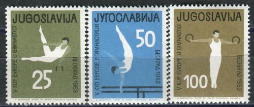 Poštovní známky Jugoslávie 1963 ME v gymnastice Mi# 1049-51