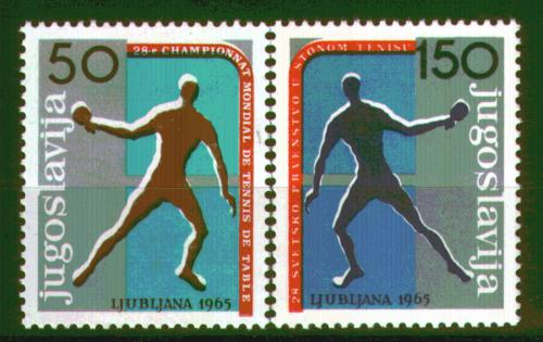 Poštovní známky Jugoslávie 1965 MS ve stolním tenise Mi# 1104-05 Kat 6€