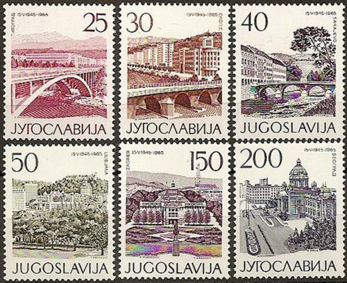 Poštovní známky Jugoslávie 1965 Architektura Mi# 1106-11