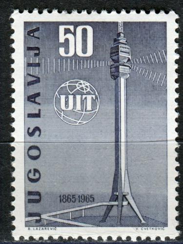 Poštovní známka Jugoslávie 1965 ITU, 100. výroèí Mi# 1113