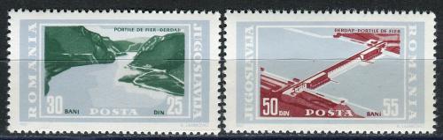 Poštovní známky Jugoslávie 1965 Stavba hydroelektrárny Mi# 1114-15