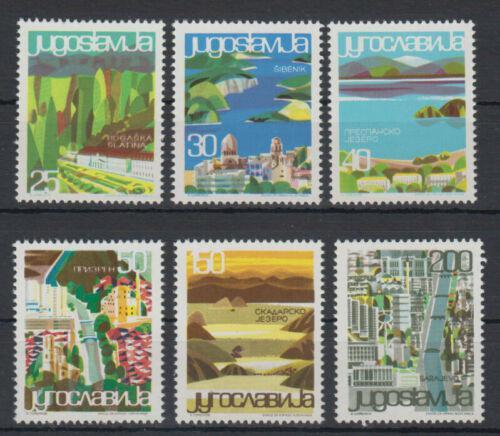 Poštovní známky Jugoslávie 1965 Turistické resorty Mi# 1125-30 Kat 6€