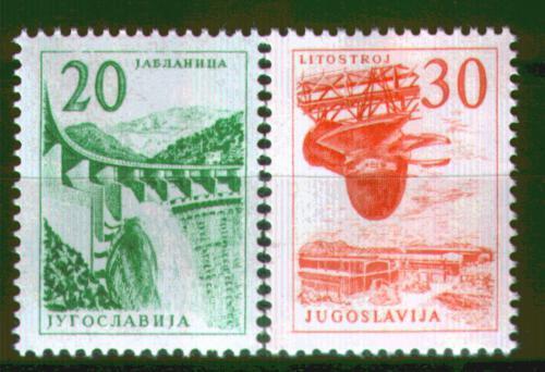 Poštovní známky Jugoslávie 1965 Technika a architektura Mi# 1131-32