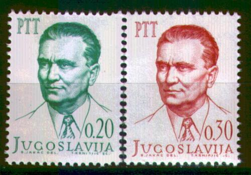 Poštovní známky Jugoslávie 1966 Prezident Tito Mi# 1142-43