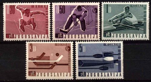 Poštovní známky Jugoslávie 1966 Sport Mi# 1144-48