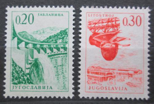 Poštovní známky Jugoslávie 1966 Technika a architektura Mi# 1155-56