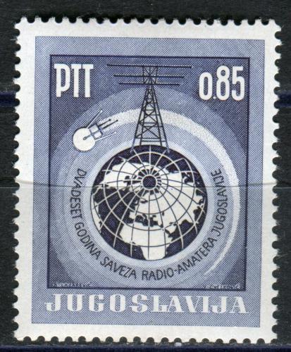 Poštovní známka Jugoslávie 1966 Rádioamatéøi, 40. výroèí Mi# 1157 Kat 3€