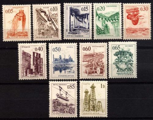 Poštovní známky Jugoslávie 1966 Technika a architektura Mi# 1164-72 Kat 12€