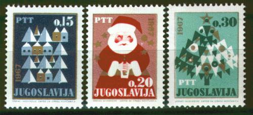 Poštovní známky Jugoslávie 1966 Vánoce a Nový rok Mi# 1188-90