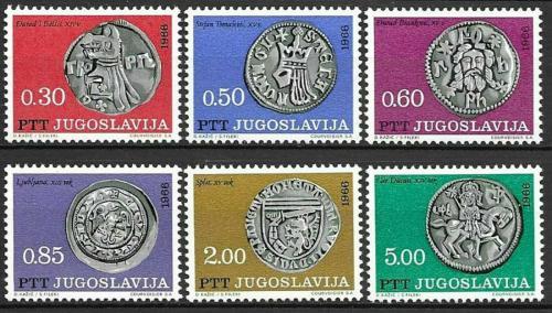 Poštovní známky Jugoslávie 1966 Støíbrné mince Mi# 1191-96