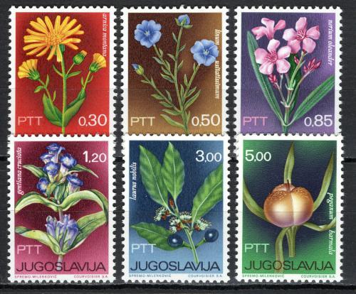 Poštovní známky Jugoslávie 1967 Kvìtiny Mi# 1200-05