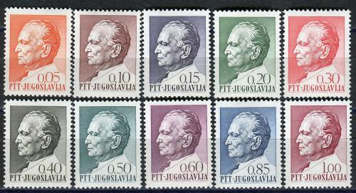 Poštovní známky Jugoslávie 1967 Prezident Tito Mi# 1206-15