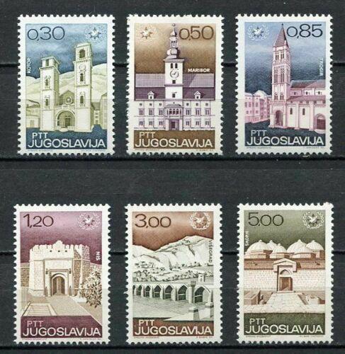 Poštovní známky Jugoslávie 1967 Turistické zajímavosti Mi# 1222-27