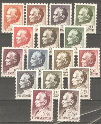 Poštovní známky Jugoslávie 1967 Prezident Tito Mi# 1232-47 Kat 14€