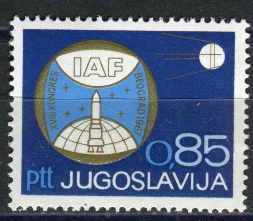 Poštovní známka Jugoslávie 1967 Satelit Sputnik 1 Mi# 1248